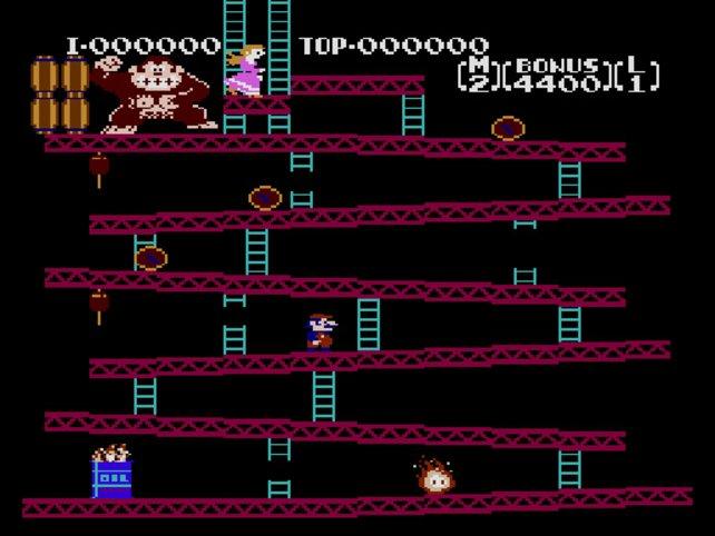 So sahen die Anfänge von Donkey Kong aus.