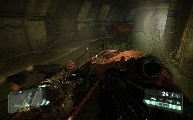 Psycho hatte eine Idee: Auf einem explosiven Zugwagon an Dutzenden Gegnern vorbei rasen. Ob das gut ausgeht?
