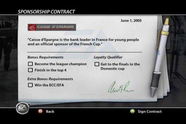 Ein Sponsorenvertrag wird unterschrieben