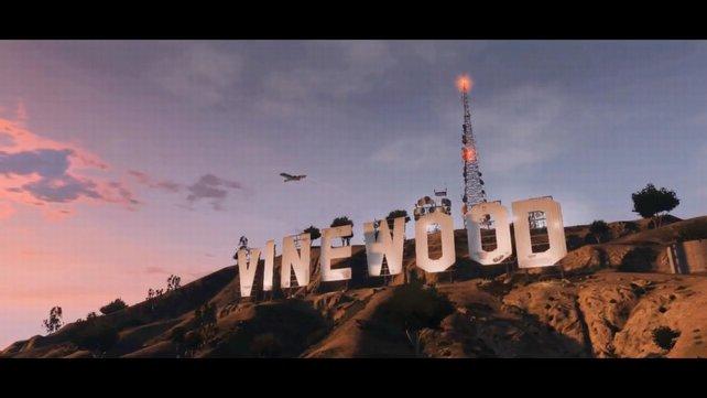 Der an Hollywood angelegte Schriftzug ist auch in GTA: San Andreas zu sehen.