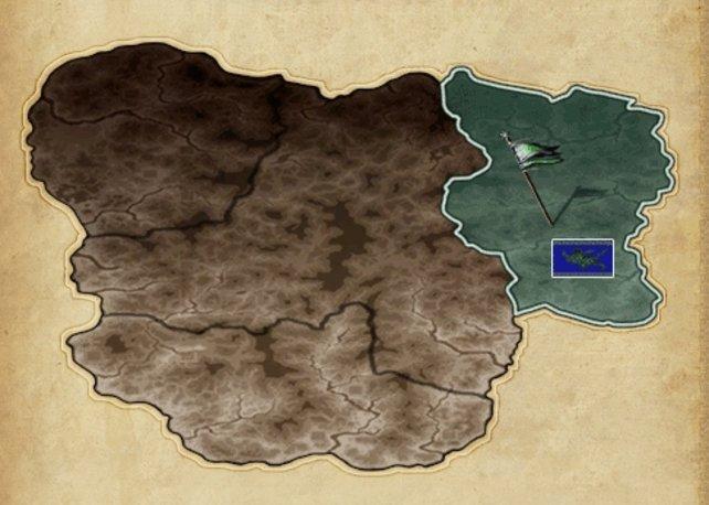 Der Kontinent ist in drei verschiedene Reiche aufgeteilt.
