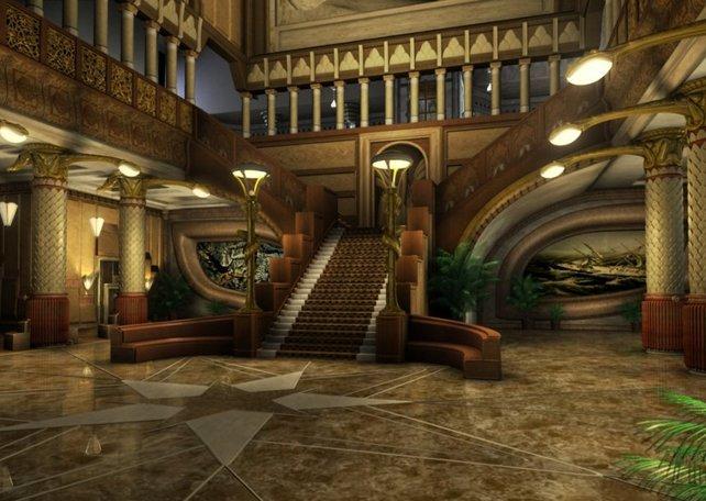 Die Lobby des Turms
