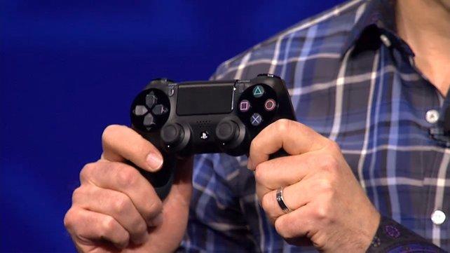 So sieht der Dual Shock 4 aus. Inklusive Touchscreen und Kopfhörer-Eingang.