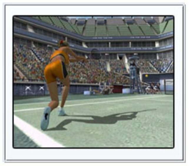 Ein weiblicher Tennis-Profi