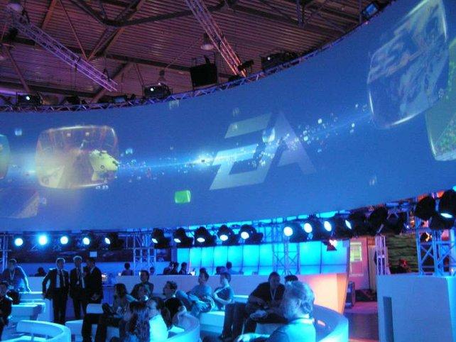 Cool: die mächtige 360-Grad-Leinwand bei EA.