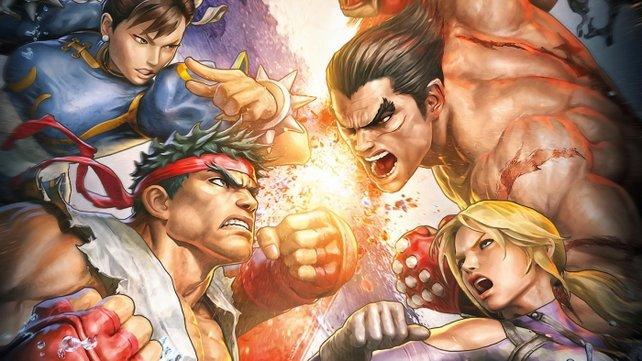 Erstmals prügeln sich Ryu und Kazuya gemeinsam.