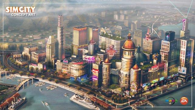 So soll Sim City aussehen, wenn Maxis die Grafik fertiggestellt hat.