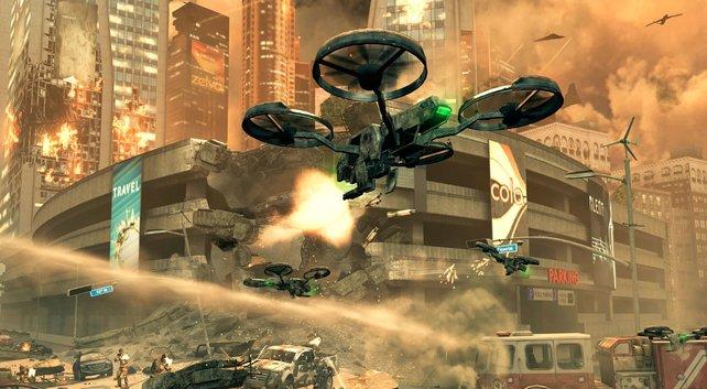 Ferngesteuerte Hubschrauberdrohnen sind Teil moderner Kriegsführung.