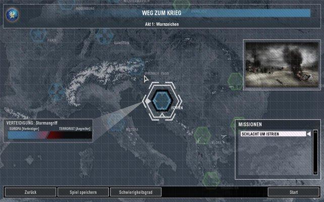 Auf dieser Karte wird euch die Story erzählt.
