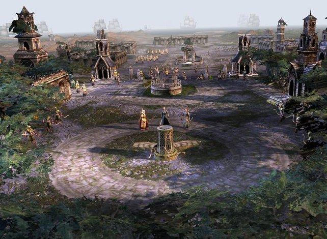 Arwen, Haldir und Elrond vor der Schlacht