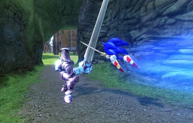 Sonic ist wieder so schnell wie ein Blitz.