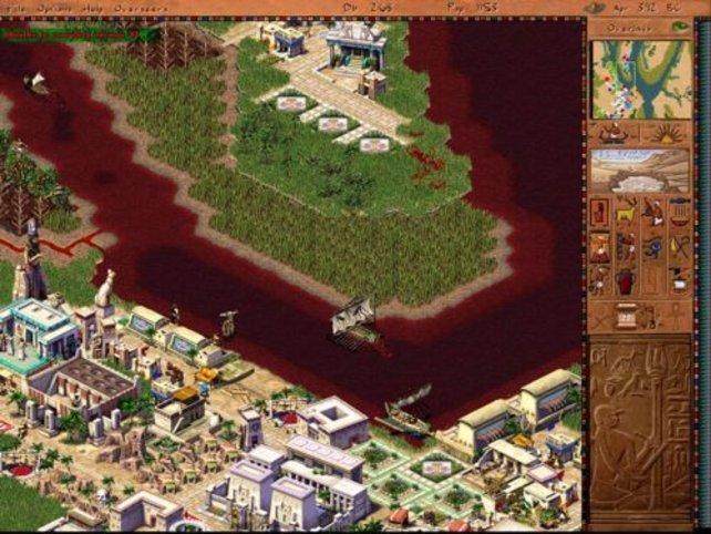 Eine der großen Plagen: der blutige Fluss.