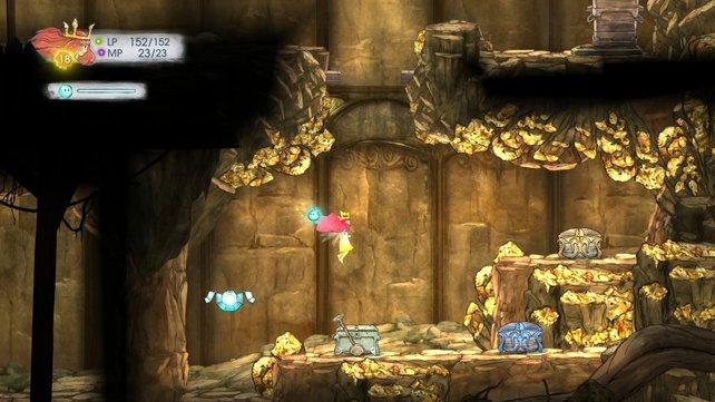In teils gut versteckten Kisten findet ihr Oculi-Kristalle, um eure Fähigkeiten auszubauen.