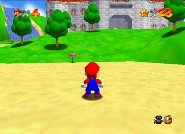 Auch Marios Schritt ins 3D-Zeitalter gelingt dank Super Mario 64 mit Bravour.