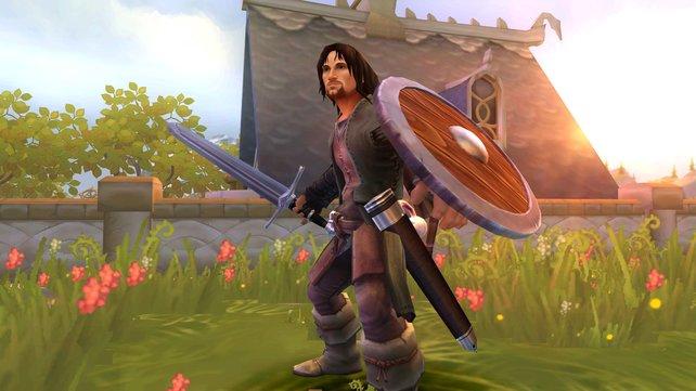 Hauptdarsteller des Spiels: König Aragorn.