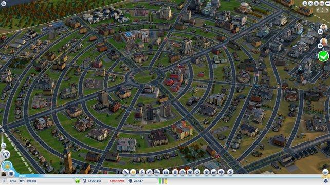In Sim City baut ihr eure eigene Stadt.
