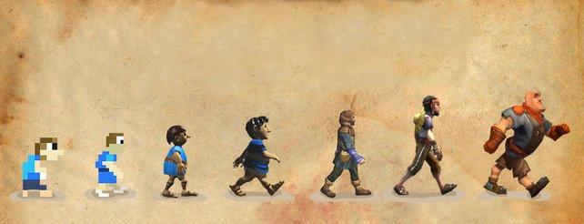 Die Geschichte der Siedler beginnt mit Pixelmännchen.