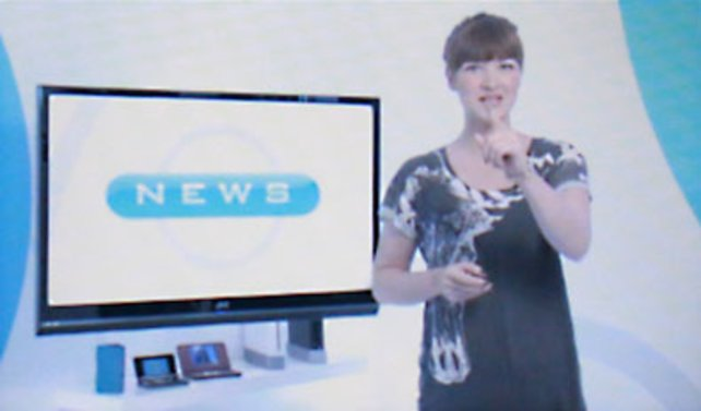 Moderatorin Ariane führt durch das wöchentliche Magazin.