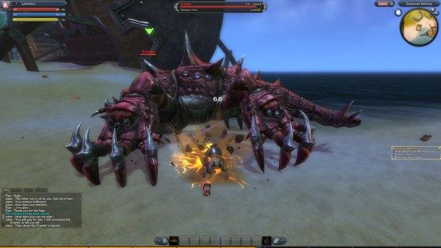 Dieser Krabbe könnt ihr die Greifzange abschlagen und sie dadurch als Waffe einsetzen.