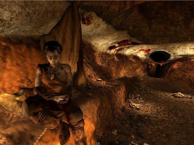 Jetzt befinden wir uns in einer der Höhlen