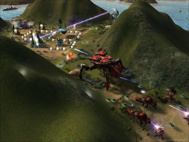 Panoramablick auf eine Basis