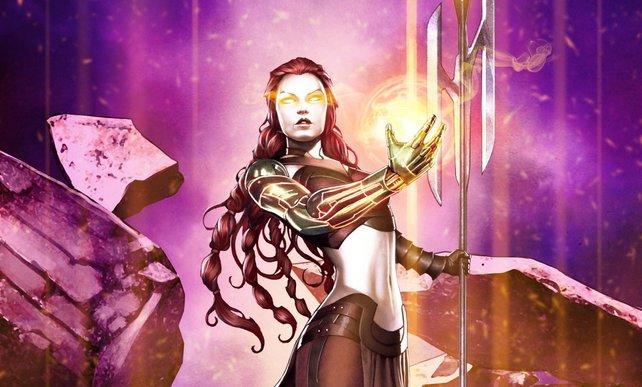 Auch in Heroes of Ruin gibt es die Klasse Magier. Hier nennt sie sich Alchitektin.