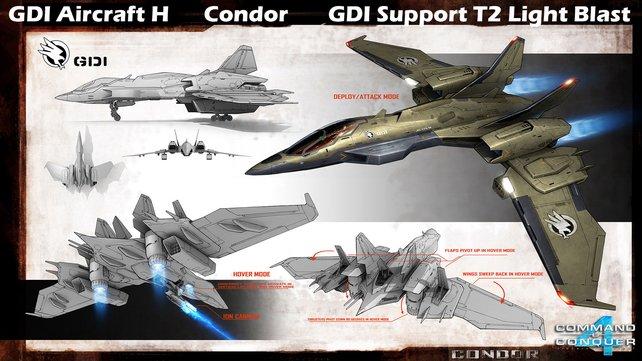 Konzeptzeichnung eines GDI-Kondors.