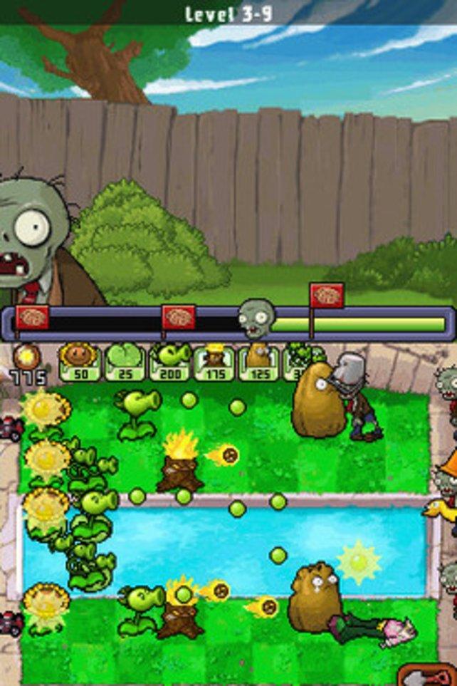 Auch auf dem DS verlieren Pflanzen und Zombies nichts von ihrer Knuffigkeit.