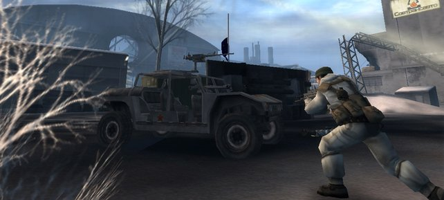 Der erste Konsolenableger hat thematisch wenig mit Battlefield 2 auf dem PC zu tun.