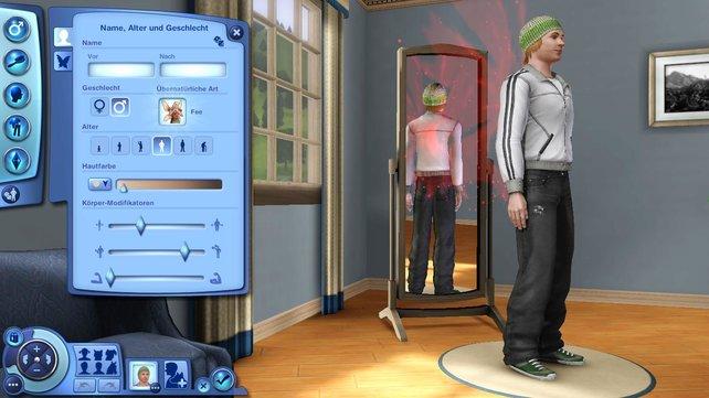 Gelebte Toleranz: In Sims 3 Supernatural wird niemand ausgeschlossen, nur weil er rosa Flügel hat.