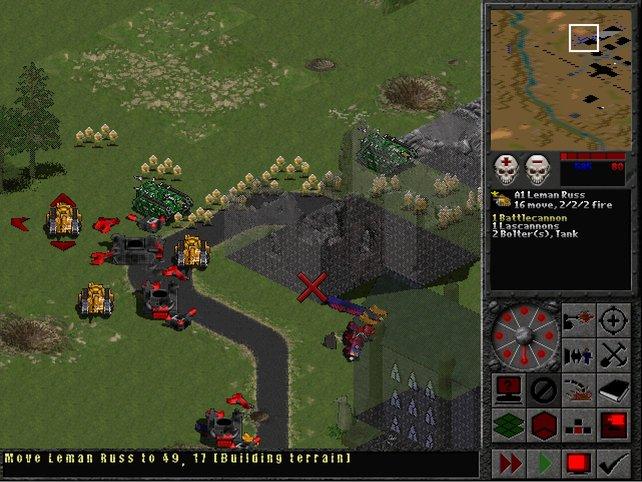 Final Liberation erinnert erstmals stark an das Original-Spielprinzip. Rundenweise rückt ihr Orks auf den Pelz.