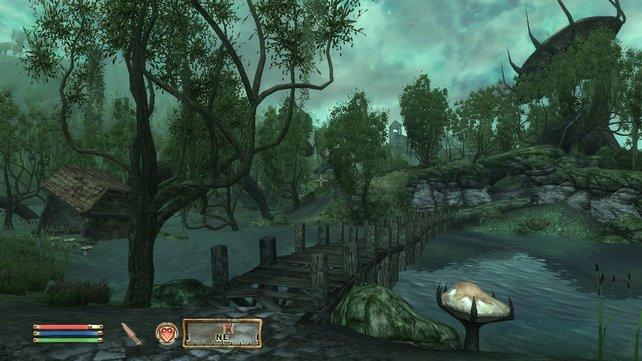 Neue Insel, neues Glück: In Shivering Isles gibt es unter anderem neue Pflanzen, Gegner und Waffen.