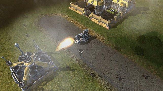 Um später Gebäude zu attackieren, braucht's viel Feuerkraft.