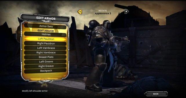 Seid ihr hoch genug im Level, dürft ihr Aussehen und Bewaffnung im Mehrspieler-Modus bestimmen.
