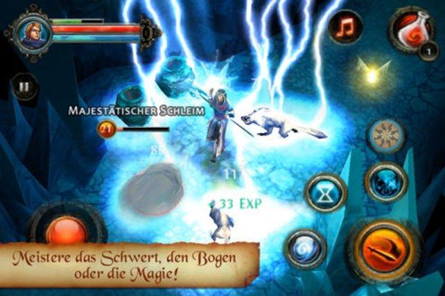 Der Magier ist zwar schwach im Nahkampf, seine Zauber sind jedoch verheerend.
