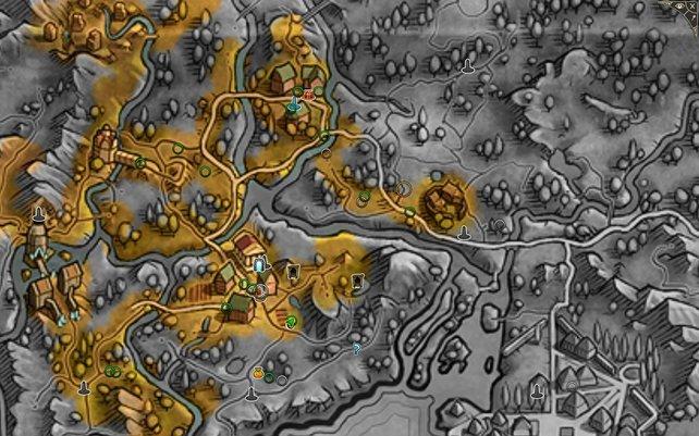 Die Weltkarte ist hübsch gestaltet.