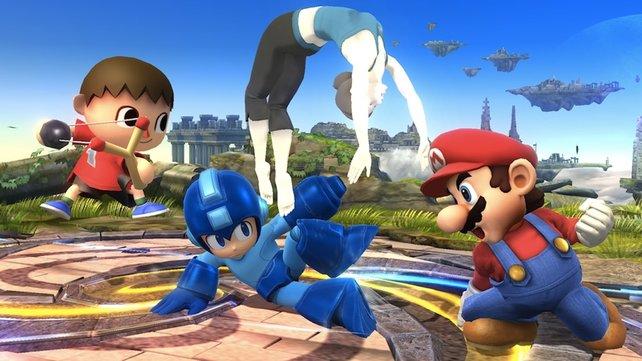 Mega Man von Capcom und natürlich Mario von Nintendo sind nur zwei der vielen spielbaren Charaktere.