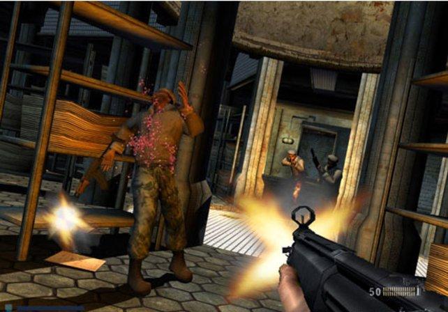 Der Feind versucht, euch durch eine in den Boden geschossene Kugel aufzuhalten - wenn er meint...