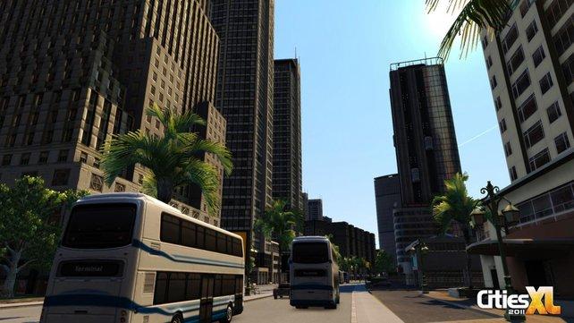 In der Nahansicht wirkt Cities XL 2011 langweilig - auch, wenn der Zoom beeindruckt.