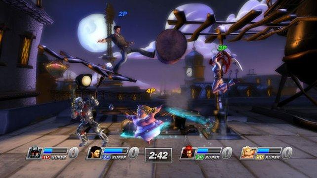 Die Sony-Hauerei erinnert nicht von ungefähr an Nintendos Super Smash Bros.