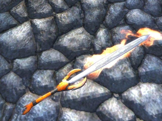 Unter anderem dieses Schwert ist Bestandteil der Modifikation.