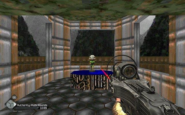 In Rage gibt es einen Raum, der aus Doom bekannt ist.