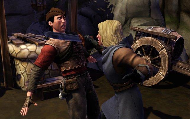 Um alle Aufgaben zu lösen, greift ihr auch zum Schwert - kämpft aber nie aktiv.