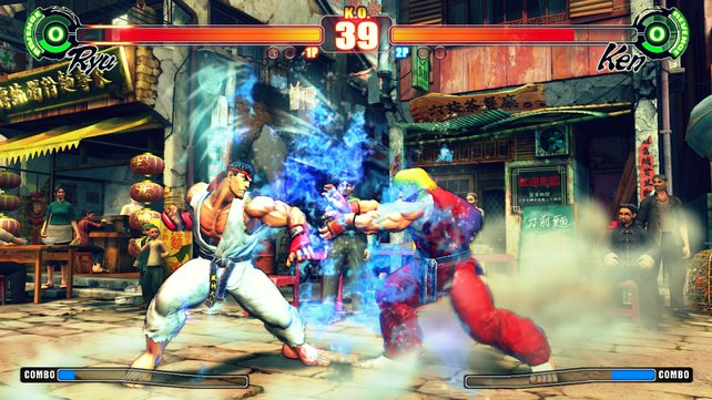 Mit Ken und Ryu stehen zwei der wohl bekanntesten Charaktere der Street-Fighter-Reihe zur Auswahl