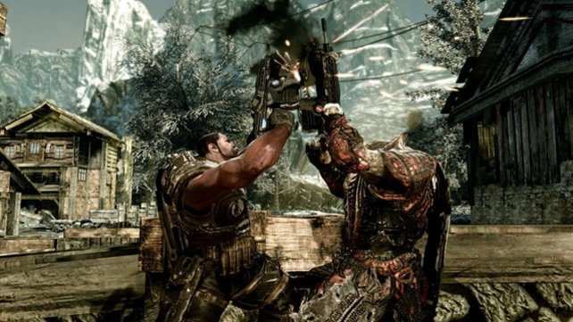 Zersägen und zersägt werden - Ein Naturgesetz in Gears of War 3.