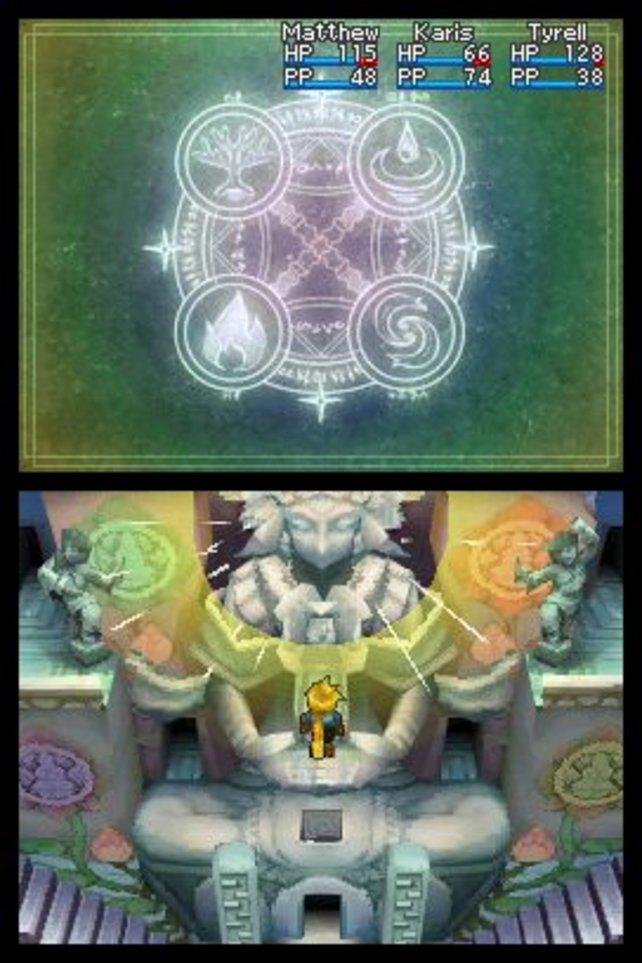 In solch rätselhaften Tempeln kommt ihr nur mit klugem Psynergy-Einsatz weiter.
