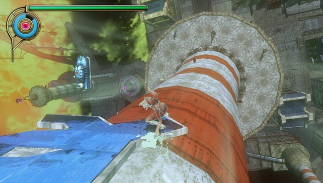 Einfach mal einen Turm hochlaufen - kein Problem in Gravity Rush.