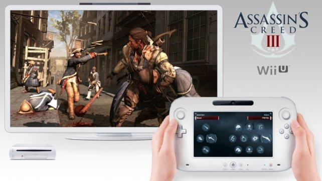 Auf Wii U ist die Wahl der Waffen mit dem Gamepad komfortabler.