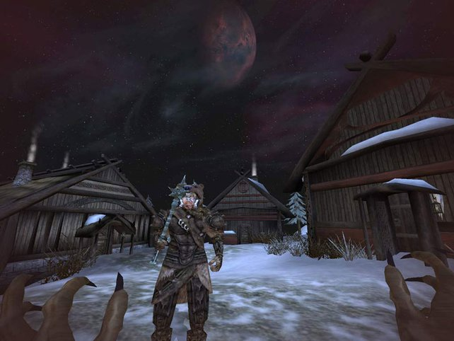 Hier seid ihr als Werwolf in Bloodmoon unterwegs. Die Viecher erfreuen sich schon damals großer Beliebtheit.