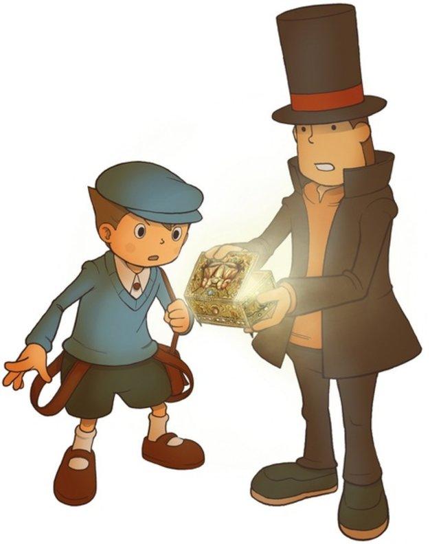 Gemeinsam lösen sie jeden Fall: Professor Layton und sein Schüler Luke